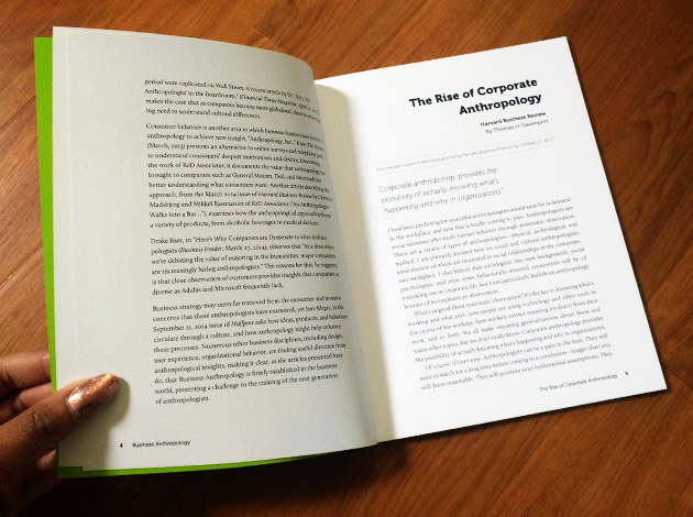 Business Anthropology Reprints Book, interior