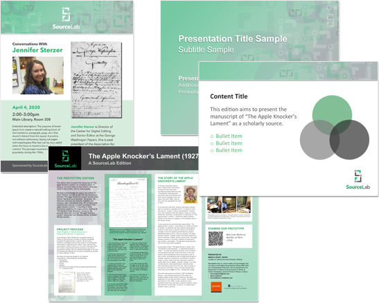 SourceLab collateral material